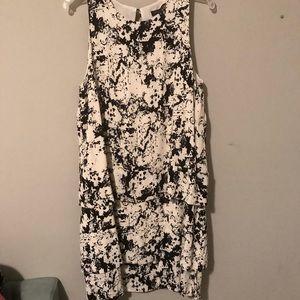 Banana Republic Black Splatter Tiered Dress